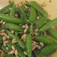 Sugar Snap Peas With Pine Nuts