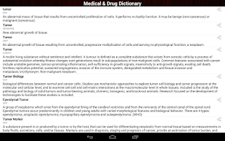 Screenshot of Medical & Medicine Dictionary