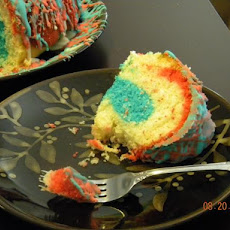 Fire Cracker Red, White and Blue Cake (Betty Crocker)