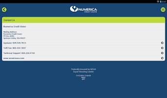 Screenshot of Numerica CU