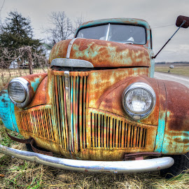 Standing Guard by Adam C Johnson - Transportation Automobiles ( studebaker, winter, rusty, kansas, decaying )
