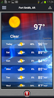 Screenshot of 5NEWS Weather