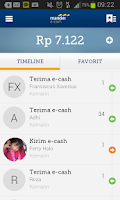 Screenshot of mandiri e-cash