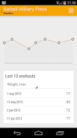 Screenshot of Dumbbell - Gym Log