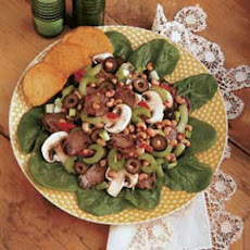 Pork and Spinach Salad