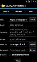 Screenshot of GSAnywhere (Cloud Storage)