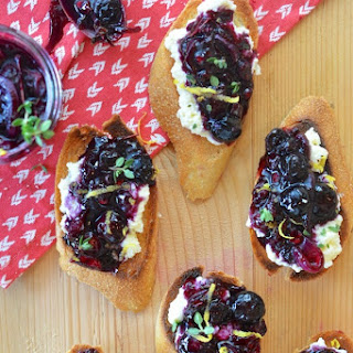 Blueberry Chutney & Ricotta Crostini