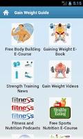 Screenshot of Gain Weight Guide!