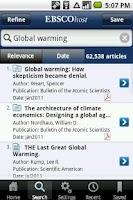 Screenshot of EBSCOhost