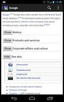 Screenshot of Wikidroid (Wikipedia Browser)