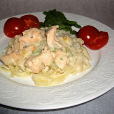 Creamy Salmon on Pasta