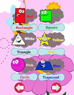 Learn color and shapes english - screenshot
