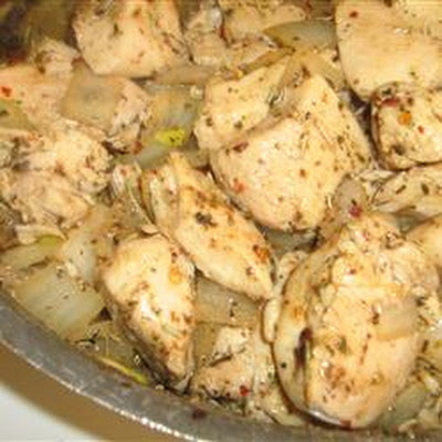 Chicken and Herbs in White Wine