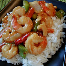 Kung Pao Shrimp with Cashews