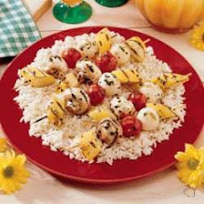 Vegetable Kabobs with Rice
