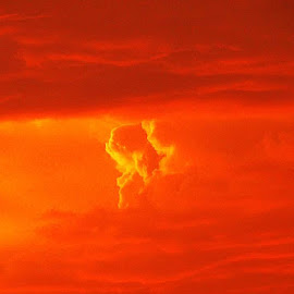 Orange Clouds by Barbara Kauss - Landscapes Cloud Formations ( #orangeclouds #clouds #redsky @sunset #nature )