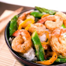 Chili Shrimp and Asparagus Stir Fry