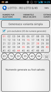 RO LOTO 6/49 - 3 variante - screenshot