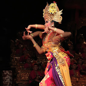 Balinese Dancer by Rudy Harianto - News & Events Entertainment ( lowlight, show, night, stage, people, culture, dancer )