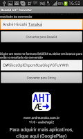Screenshot of Base64 encoding AHT