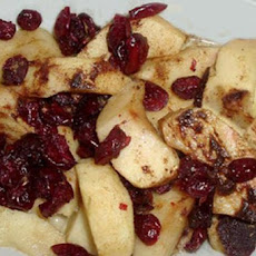 Baked Apple With Cranberries