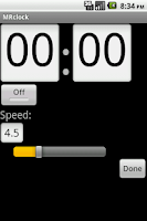 Screenshot of MRclock
