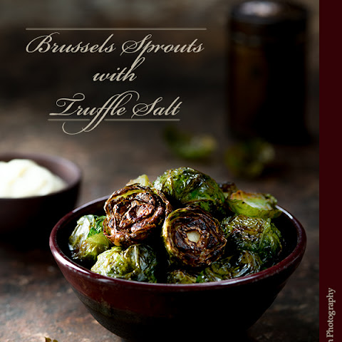 Roasted Brussels Sprouts with Truffle Salt and Aioli