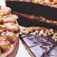 Peanut Butter-Honey Tart with Ganache Glaze