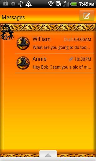 GO SMS THEME HalloweenTiger2