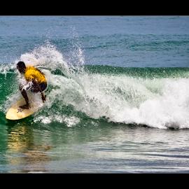 Surfer - III by Vincent Albert - Sports & Fitness Surfing ( water, surfing, surfer, waves, sea, creativince, beach, surf, foam,  )