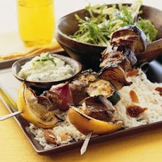 Lamb Kebabs With Fig Rice