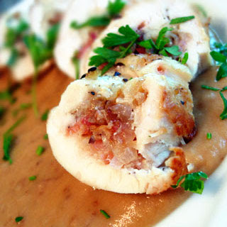 Chicken-Bacon Roulade