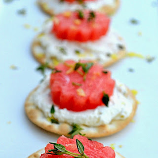 Thyme and Lemon Watermelon Appetizer