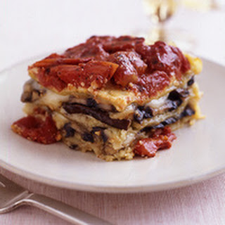 Portobello Mushroom and Almond Pesto Lasagna