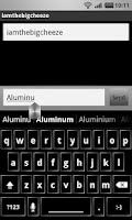 Screenshot of Aluminum
