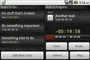 Screenshot of ToDo Timer