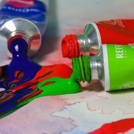 Painte' by Austin Martin - Novices Only Macro ( macro, color, texture, paintbrush, paint )