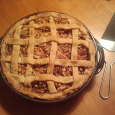 Sour Cream Apple Pie with Dried Sour Plums