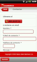 Screenshot of Cajamurcia Banca Online