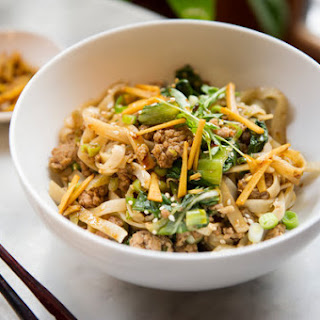 Spicy Ginger Pork Noodles With Bok Choy