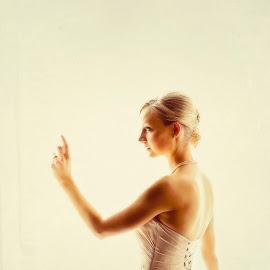 Looking ...  by Alan Evans - Wedding Bride ( looking, wedding photography, window, wedding day, wedding, aj photography, wedding dress, canberra wedding photographer, bride, marriage )