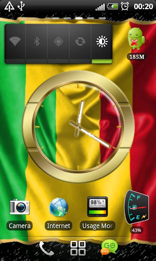 Mali flag clocks