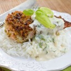 Pistachio Crusted Salmon with Ginger Lemon Cream Sauce