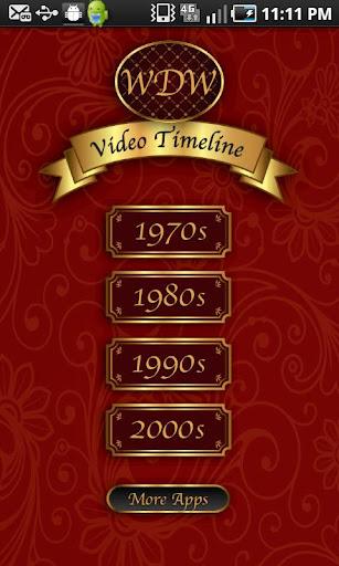 Disney World Video Timeline