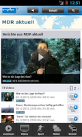 Screenshot of MDR Nachrichten