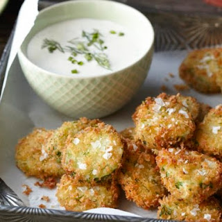 Fried Homemade Pickles with Ranch Dressing From 'Kitchen Confidence'