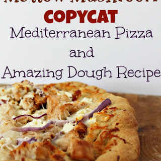 Homemade Mellow Mushroom Inspired Mediterranean Pizza