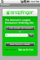 Screenshot of Snapfinger Restaurant Ordering