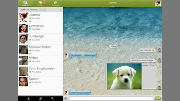 Screenshot of BeejiveIM for Facebook Chat