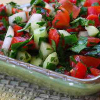 Recipe for Middle Eastern Tomato Salad (Salad Shirazi)